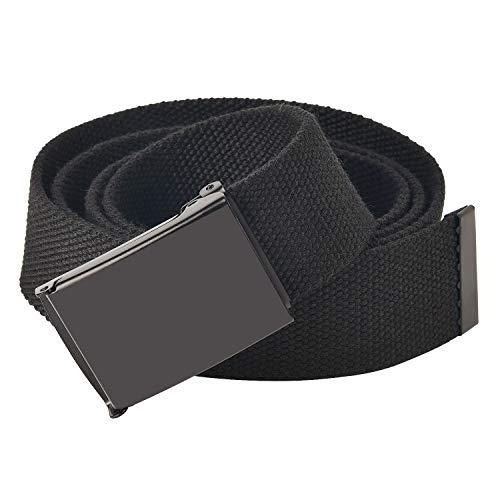 KEYNAT Cintura Tattica in Tela in Stile Militare da Uomo, Tessuto in Nylon Cintura con Fibbia