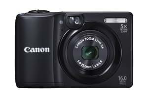 Canon PowerShot A1300 Digital Camera - Black (16.0 MP, 5x Optical Zoom) 2.7 inch LCD
