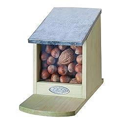 Pflanzenservice Eichhörnchen-futterhaus Mit Klappdach Und Sichtscheibe, 1 Stück Eichhörnchenfutterhaus, 1.0 L, Braun, 12.2 X 23 X 17 Cm