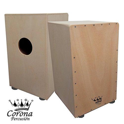 Cajon flamenco (Premier) - Cajon de percusión adulto fabricado en abedul con gran acústica, 48cm alto x 30cm x 30cm, color Madera Clara