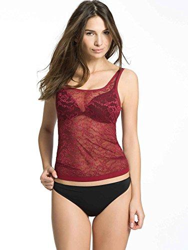 Triumph Damen Unterhemd Light Sens Lace Shirt 02 Rot (RUMBA RED (71))