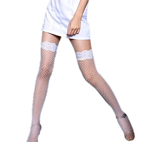 Spitze lange Socken - All4you Sexy Frauen Hot Fischnetz Oberschenkel hohen Strümpfen Dessous (Assistenten Sexy)