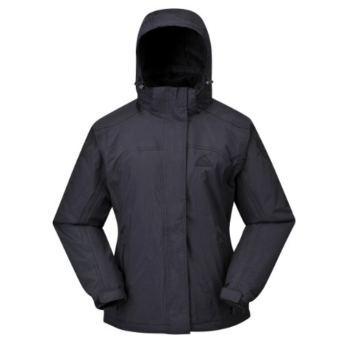 COX SWAIN Damen 2-Lagen Outdoor Regenjacke Pure - 5.000mm Wassersäule, Colour: Black, Siz