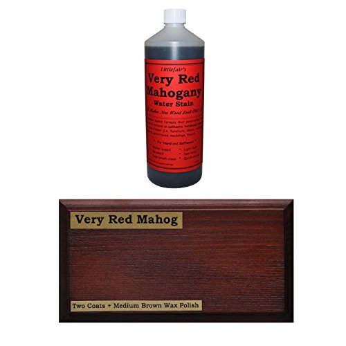 Littlefairs umweltfreundliche wasserbasierte Holzlasur und Farbe - Traditionelles Sortiment (2.5ltr, intensiv rotes Mahagoni)