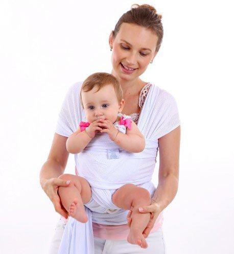 CETTICII Echarpe de portage bébé, blanche, porte bébé en coton très léger  pour un e547964c408
