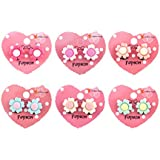 TOYMYTOY 6 Pairs Sunflower Flower Clip-On Earrings Sweet Fashion Jewelry Accessories for Kids Girls