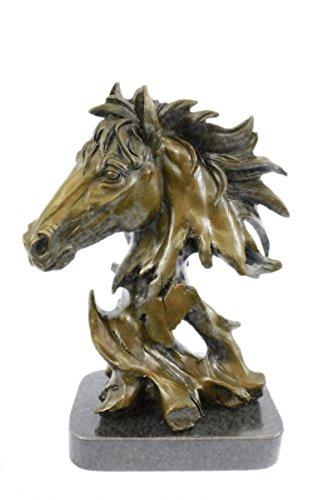 Handmade Bronze Skulptur Bronze Statue Ursprünglicher Milo Herrliche Büste Pferdekopf Abbildung Art-Deco-Figuren-JPdw-116- Decor Sammler Geschenk (Pferdekopf Figur)
