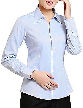 KINDOYO Camicia da lavoro da donna in a manica lunga unità donna