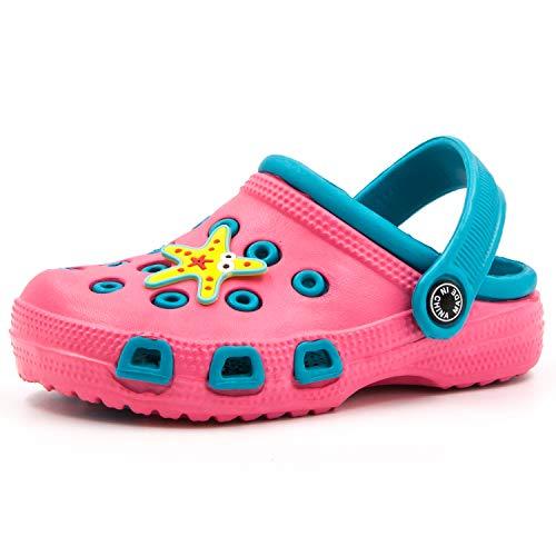 Zuecos Unisex Niños Sandalias Zapatos Niños Verano Chanclas Zuecos Niñas Antideslizante Zapatillas Chanclas de Playa de Verano 22-31 EU (24/25 EU, Rosado)