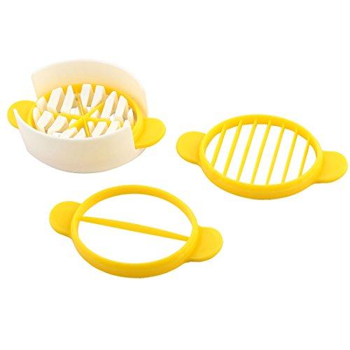 sourcingmap® Restaurant Küche Kunststoff Obst Ei DIY Keil Slicer Halter Schneider Werkzeug Set