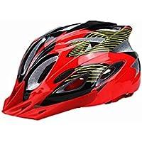 Flowerrs Casco Scooter Casco de Montar a Caballo Ajustable de una Pieza Cascos de ventilación múltiples múltiples (Rojo + Negro) Skate Helmet