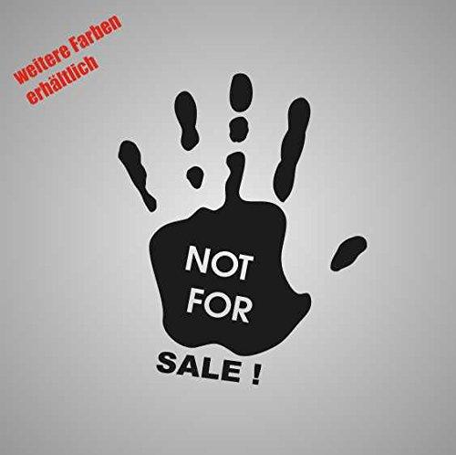 "Aufkleber "" hand not for sale "" Sticker Decal Folie Tuning (weiß)"