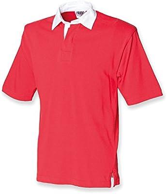 Camisa de manga corta de la primera fila de Rugby