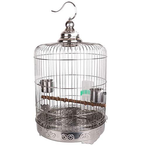 Erhöhen Sie Chassis Boutique Edelstahl Papagei Vogelkäfig Starling Drossel Xuanfeng Pfingstrose Zucht Metallkäfig Full Set