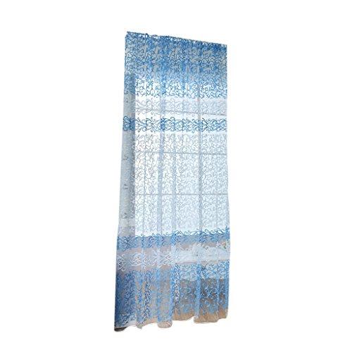Pannello drappo filato della tenda di finestra di vetro pura sciarpa mantovana decorazione della casa blu