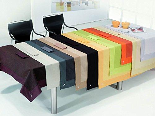 ESTELA   Mantel RÚSTICO Liso Color Gris   155x200