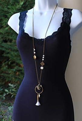 Bola de grossesse avec chaine cage lotus bronze attrape rêve blanc boule musical bohème femme enceinte pompon sequin émaillé cadeaux création unique fait main