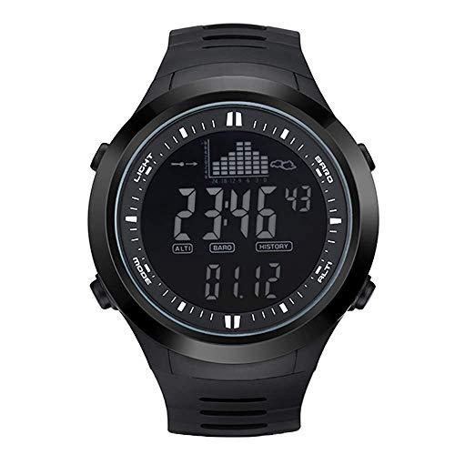 Mygsn Watch Elektronische Fischerei-Uhr im Freien, Sportuhr, leuchtende wasserdichte Erhöhungs-intelligente Anzeige Watch (Farbe : B)