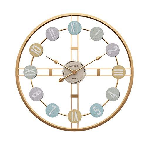 DOSNVG Große Wall-Uhr, 50CM XXXL Vintage Wall Clock-Silent-3D-Modern-Metal-Wall Clock,C