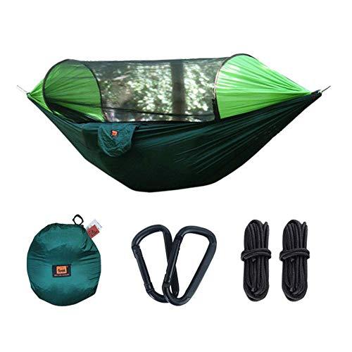 Adenlbahr Camping Hängematte mit Moskitonetz und Regenschutz leicht Schlafsack Parachute Tragbare Camping Tent(290 * 145cm)