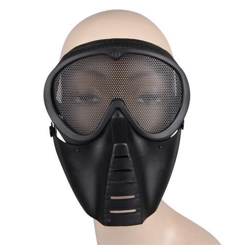 SODIALR Mascara proteccion Airsoft Paintball Negro
