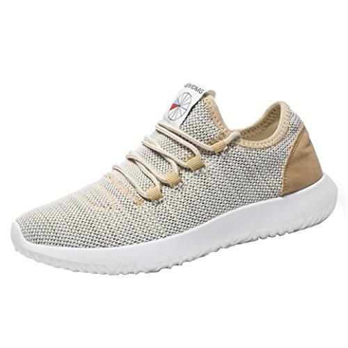 Scarpe Uomo Sneakers con Sportive,Homebaby Ragazzo Maglia Vintage Calzature Casuale Palestra Yoga Fitness Moda Basse Scarpe Slip on Flats