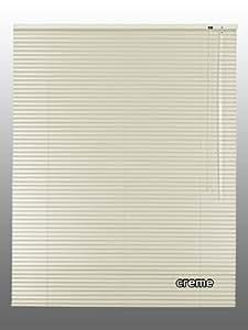 Alu-jalousie store vénitien en aluminium stores vénitiens 130 x 220 x 130 x 220 cm-couleur :  crème-fonctionnement côté droit