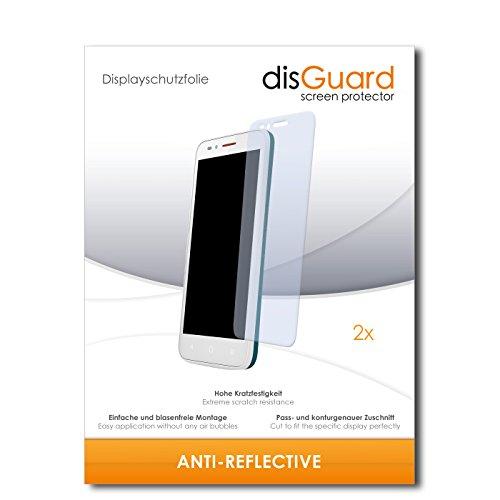 disGuard® Displayschutzfolie [Anti-Reflex] kompatibel mit Alcatel One Touch Go Play [2 Stück] Entspiegelnd, Matt, Antireflektierend, Extrem Kratzfest, Anti-Fingerabdruck - Panzerglas Folie, Schutzfolie