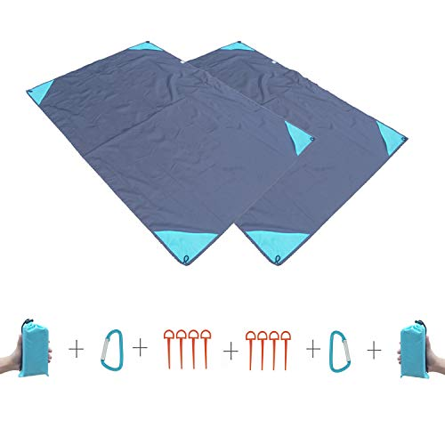 DMGF Picnic Manta Camping Mat Lluvia Poncho Bolsillo del Teléfono Celular,2Pieces
