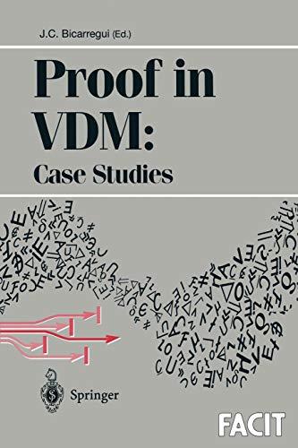 Proof in VDM: Case Studies (Formal Approaches to Computing segunda mano  Se entrega en toda España