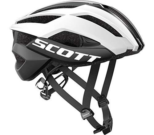 Scott Arx Plus Rennrad Fahrrad Helm weiß/schwarz 2019: Größe: S (51-55cm)