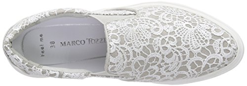 Marco Tozzi Damen 24605 Slipper Grau (GREY COMB 221)