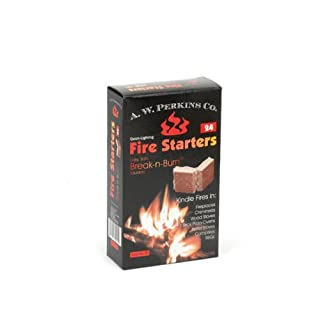 AW Perkins Break-n-Burn Fire starter Squares - 24 Squares Per Box by AW Perkins