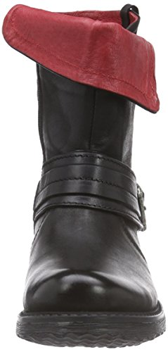 Buffalo London Es 30476 Mexico, Bottes Motardes Femme Noir (preto 01)