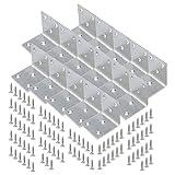 sourcing map Soporte Acero Inoxidable Esquina Articulado Forma L Soportes Estante con Tornillos para Muebles Sofá 50x50mm