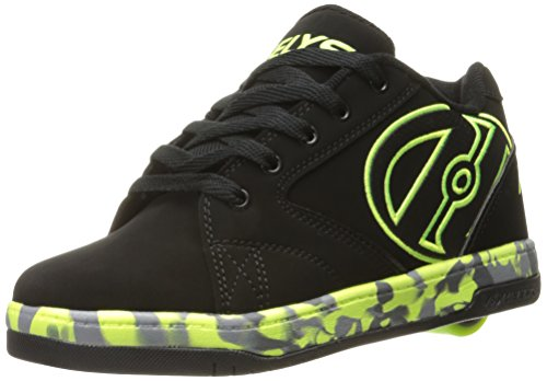 Heelys Boys' Propel 2.0 Sneaker, Black/Bright Yellow/Black, UK 6, EU 39