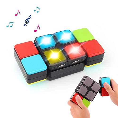 PUZ Toy Gifts for 6+ Year Old Boys Girls Rubik Magic Cube Electronic Music Cube Novelty Puzzle Game for Teens Kids PZ-MF