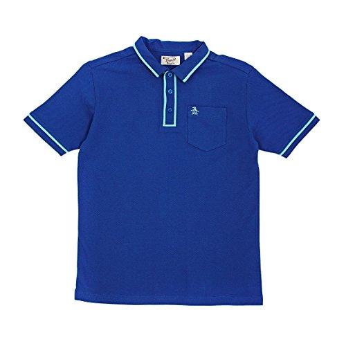 Jungen Original Penguin Earl Klassisch Blau Polohemd Blau