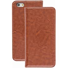 New Style Apple iphone 6s plus Case cover, Apple iPhone 6s plus Brown Designer Style Wallet Case Cover
