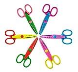 6 Verschiedene Farben scherzt intelligentes Papier Edger Scheren für Lehrer, Kursteilnehmer, Fertigkeiten, Scrapbooking, DIY Fotos, Album, dekorativ (1)