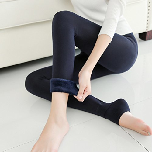 Zhhlaixing Beiläufige Mode Plus Cashmere Thick Pants New Warm Breathable Comfortable bequeme Hosen for Ladies Women Dark Blue