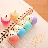 #3: The Purple Tree Cute Egg Shaped Highlighter Pens - 6 pc (set of 6 color pen), highlighter pen, Cute Pen, Cute Stationary, pen for kids, best gift for girls, best gift for kids
