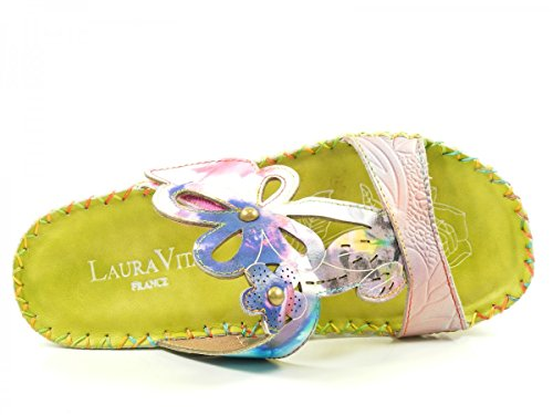 Laura Vita Donna Sabot verde, (weiß-kombi) BRYAN 15 Grün
