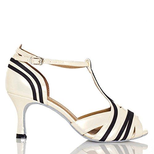 Miyoopark - Ballroom donna Black/White-7.5cm heel