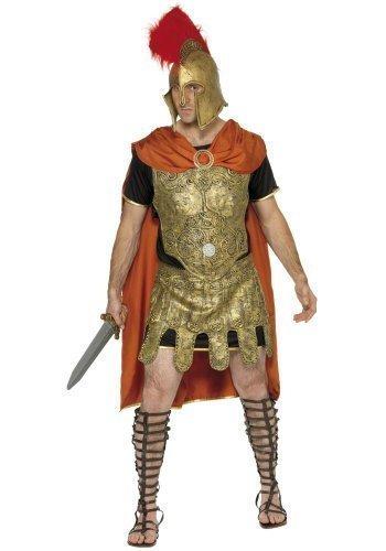 Soldat Römische Kostüm Griechisch - Warrior Herren Römischer Soldat Gladiator historischen Fighter griechischen Gottes Myth THE Legend Hero Villain Kostüm Outfit