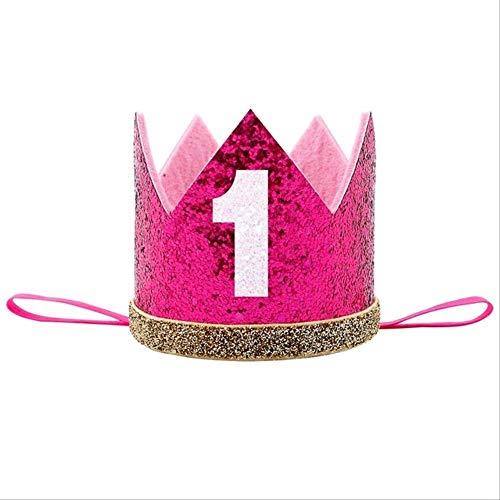 WBXSH Baby Boy Girl erste 1. Geburtstagsfeier eine DREI achtzehn Jahre alte Krone Muster Kinder Haarband Stirnband Prinz Hut3 (Heißesten Mädchen 2019)