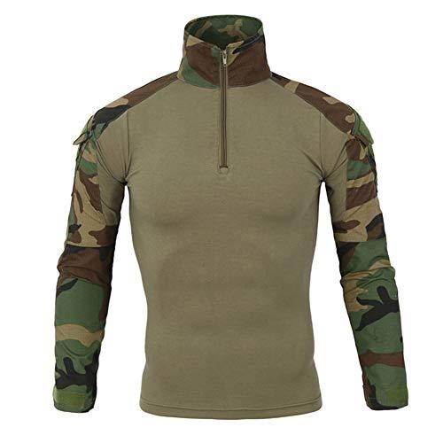 Dragon868 Herren Taktik Armee lang-Ärmel Beefy Muskel grundsolide Bluse t-Shirt Top -