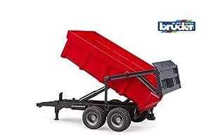 bruder 02211 - Remolque en Color Rojo para vehículo