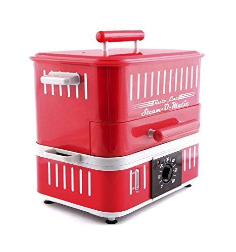 Retro Line Máquina Hot Dog Steam-O-Matic, Color Rojo