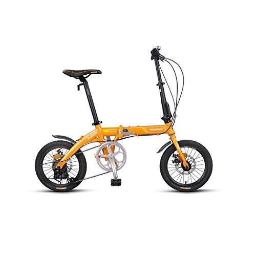 Guyuexuan Vélo Pliant, Portable Ultra léger pour Adulte et Homme, 16 Pouces-7 Vitesses, Alliage d'aluminium, Petit Mini vélo, Loisirs Familial ou extérieur Le dernier Style, Design Simple